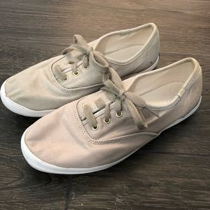 KEDS tan sparkle sneakers size 8
